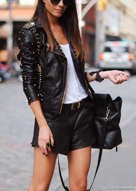 Rock chic Street Outfits