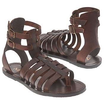 Roman sandals, as was sometimes worn during the Directoire. Not .