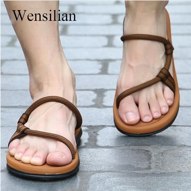 Sandals Men Sandalias Hombre Gladiator Sandals for Male Summer .