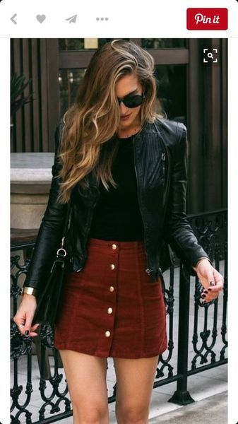 Romantic Valentine Outfit Inspiration | Red skirt outfits, Fall .