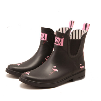 Qinghong Factory Dripdrop Brand Fashion Rubber Ankle Boots For .