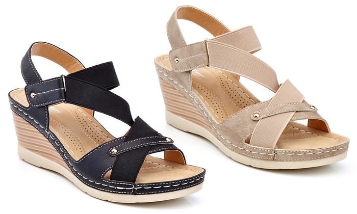 Henry Ferrera Women's Casual Wedge Espadrille Sandals | Group