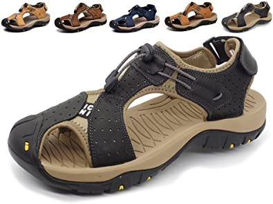 Amazon.com | Asifn Closed Toe Men Outdoor Hiking Sandals Water .