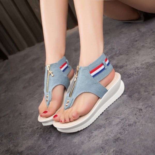 Buy New Female Sandals Flat Heel Open Toe Cool Summer Slippers .