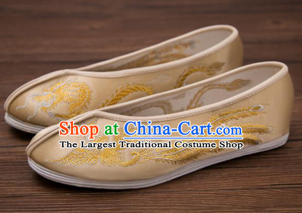 Traditional Chinese Handmade Hanfu Shoes Embroidered Dragon .