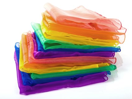 Rainbow Juggling Scarves - Gopher Spo