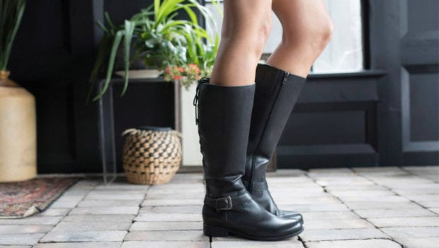 Shaft boots for women