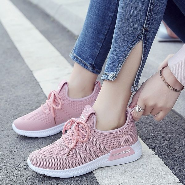 2018 Spring and Summer Fashion Ladies Flying Mesh Breathable .