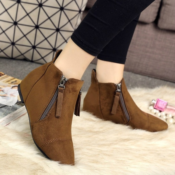 Clothing, Shoes & Accessories Boots Women Autumn Winter Boots Flat .