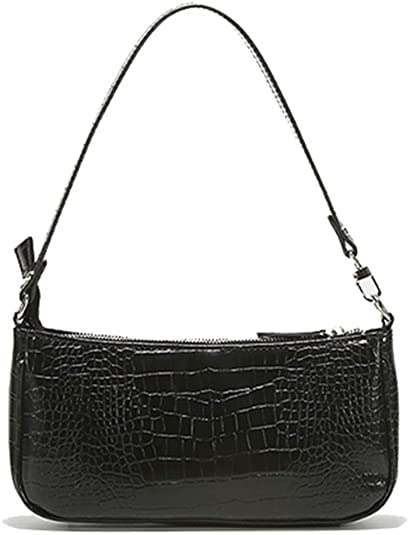 Barabum Retro Classic Crocodile Pattern Clutch Shoulder Bag with .