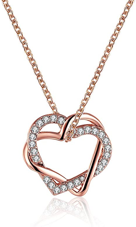 Amazon.com: Classical Silver Jewelery Heart-shaped Necklace .