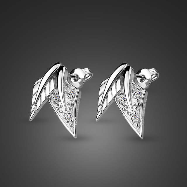 New fashion leaves lady earrings. Cute Girl 100% Sterling Silver .
