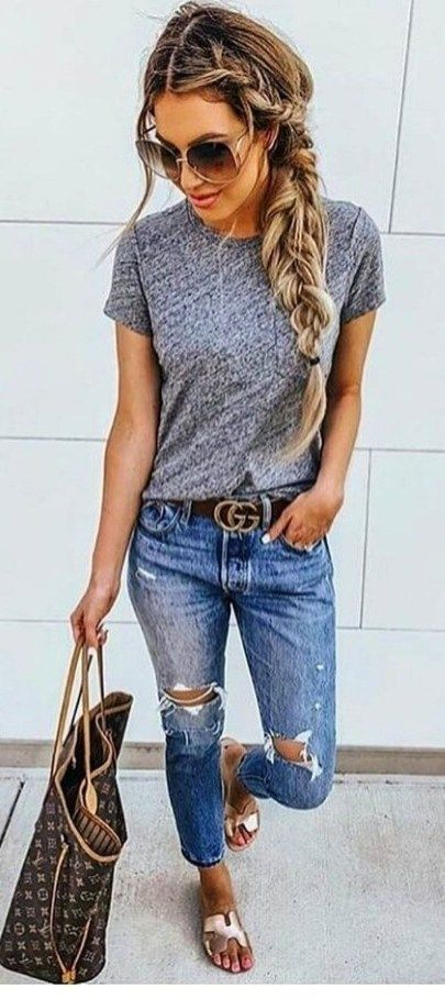 Simple Outfits Spring School For Women 38 | Casual summer outfits .