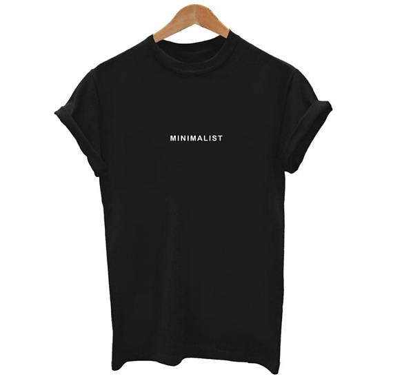 Minimalist Graphic Printed T Shirt Casual Hipster Tees Girl Tumblr .