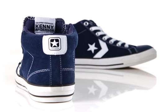 Blue Suede Skater Shoes : Converse Skateboarding Star Player M