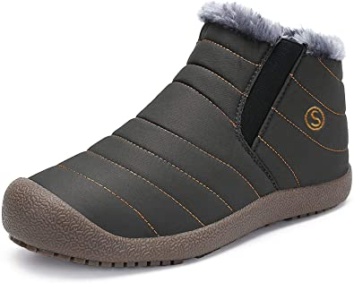Amazon.com | LSGEGO Mens Snow Boots Adult Winter Snow Shoes-Anti .