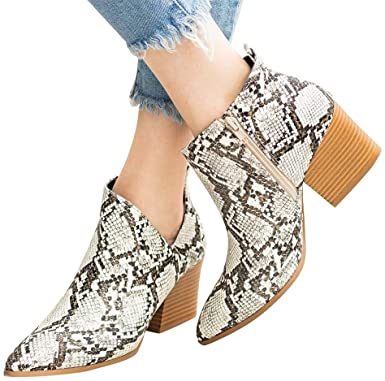 Amazon.com: Women's Casual Ankle Booties Cut Out Slip On Low Heel .