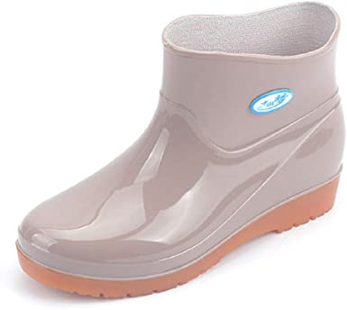 Amazon.com: LowProfile Women Rain Boots Non Slip Ankle Boots Short .