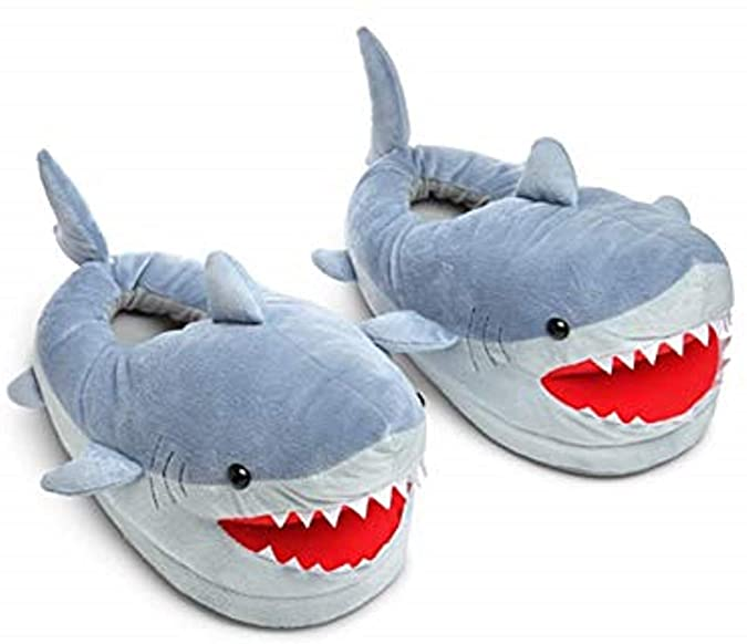 Amazon.com | Chomping Shark Plush Slippers for Grown Ups | Slippe