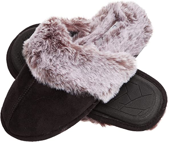 Amazon.com | Jessica Simpson Women's Comfy Faux Fur House Slipper .