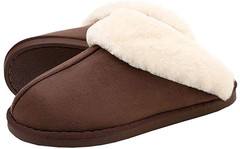Amazon.com | SOSUSHOE Womens Slippers Fur Slippers Ladies House .
