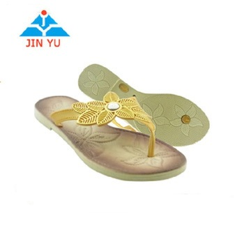 New Style Ladies Air Blow Pvc Slippers Women Flat Slippers Sandal