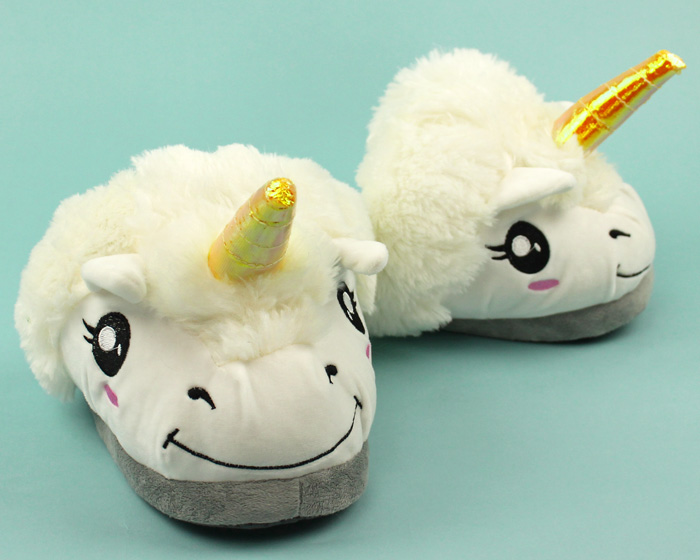 Unicorn Slippers | Plush Unicorn Slippers for Men, Women & Ki