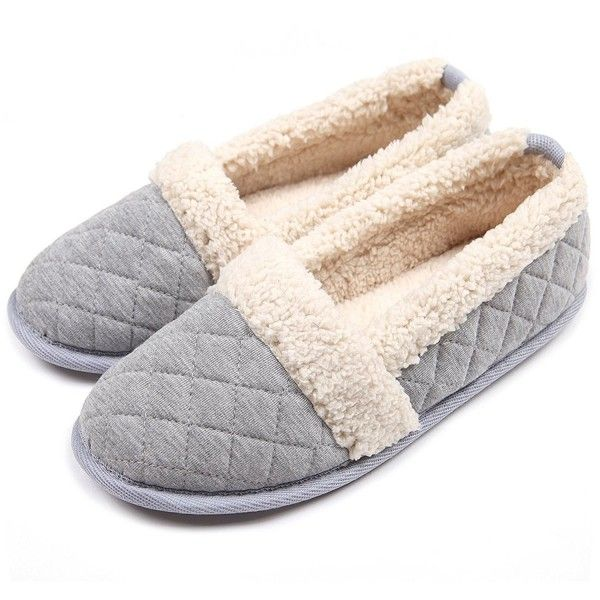 Women Plush House Slippers Ladies Non Slip Indoor Winter Bedroom .