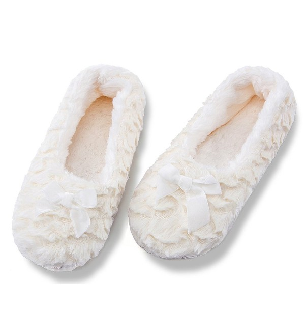 Womens Fuzzy Christmas House Slippers Ladies Cute Bedroom Indoor .