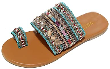 Amazon.com: Women Flat Sandals Summer,SIN+MON Women's Boho Flip .