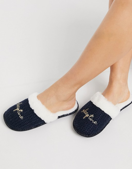 Women'secret sleep on it slippers in navy | AS