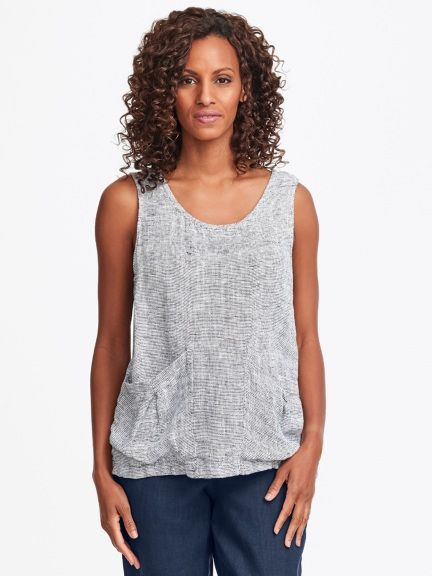 Slouch Tank | Linen tank top, Slouched, Linen wom
