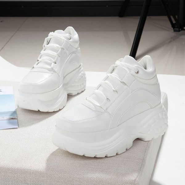 US $26.40 56% Off | 2020 White Fashion Women Platform Sneakers .