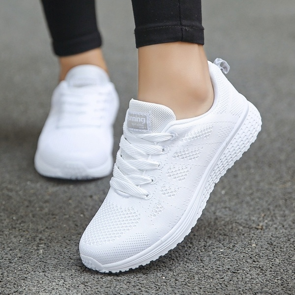 Womens Fashion Lightweight Sport Running Shoes Breathable Mesh .