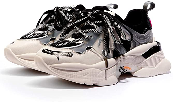 Amazon.com | Vimisaoi Chunky Sneakers for Women, Lace-Up Platform .