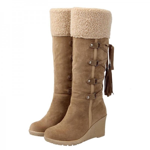 Buy Winter Boots Women Fashion Snow Boots New High Heel Boots With .