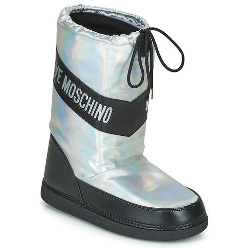 Love Moschino SKI BOOT Silver - Free delivery | Spartoo NET .