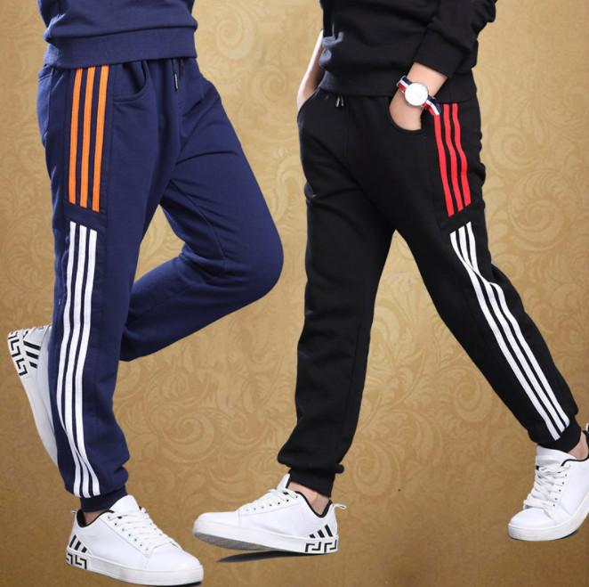 Big Boys Sports Pants Autumn Trousers Thick Childrens Leisure .