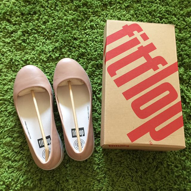 Authentic Fitflop F-Sporty Ballerina in Stone, Women's Fashion .
