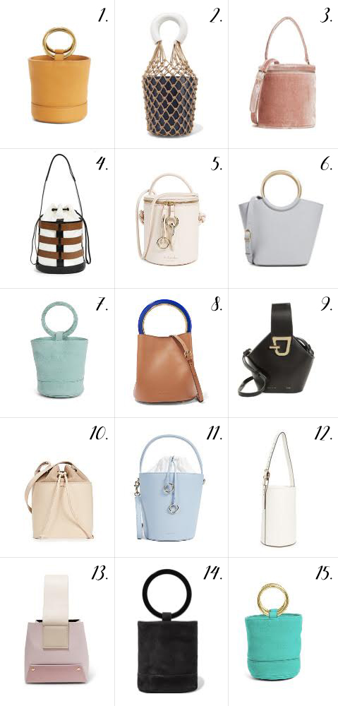 SPRING BUCKET BAGS // A ROUND UP | Atlantic-Pacif