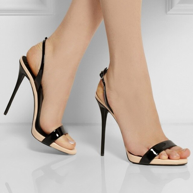 Black Open Toe Stilettos – Fashion dress