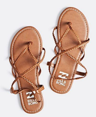 Billabong Womens Crossing Over 2 Brown Strappy Sandals – The .