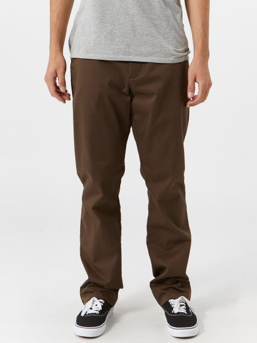 RVCA The Weekend Stretch Chino Pants Chocolate - Skate Warehou