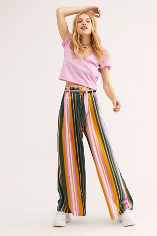 Pandora Pants | Fashion, Stripe pants outfit, Flowy pan