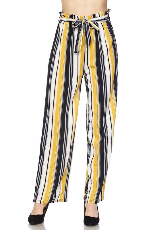 High Waisted Yellow Striped Pants – My Royal Clos