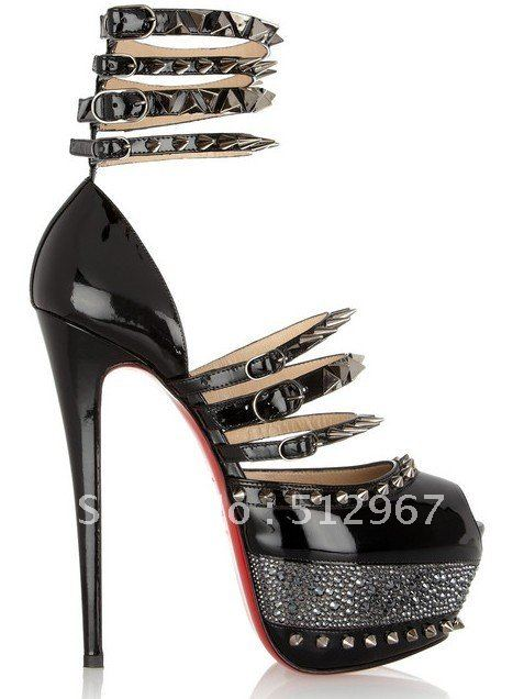black sandals gold studded platform high heel pumps women glitter .