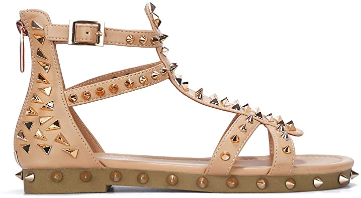 Amazon.com | Cape Robbin Bobbi Gladiator Sandals for Women .