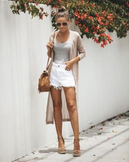 36 Stunning Spring Outfit Ideas With Wedges | Wedges outfit casual .