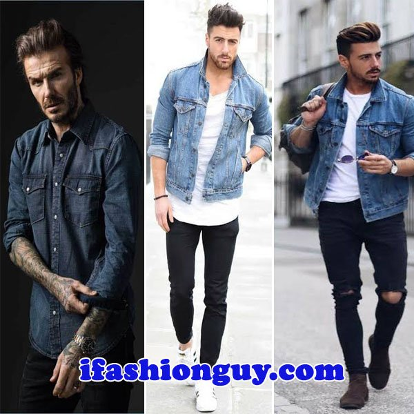 What to wear with denim shirt male - Stylish Men's Gui