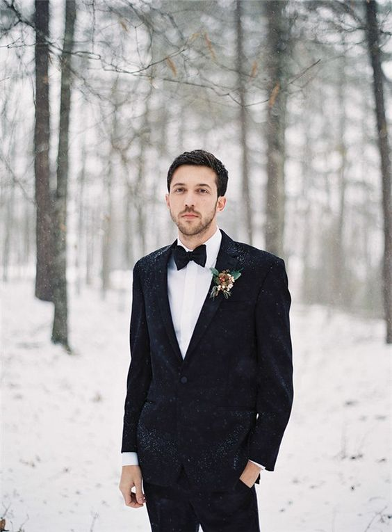 52 Cool Winter Wedding Groom's Attire Ideas - Weddingoman